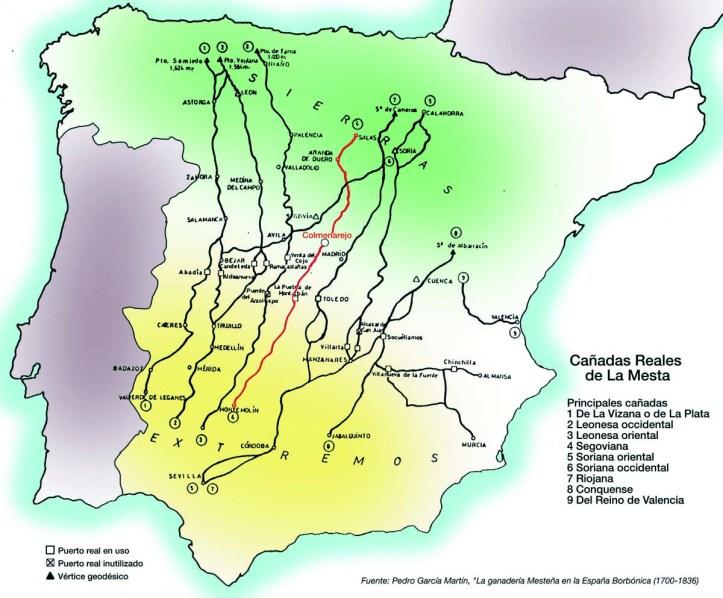 mapa vias pecuarias